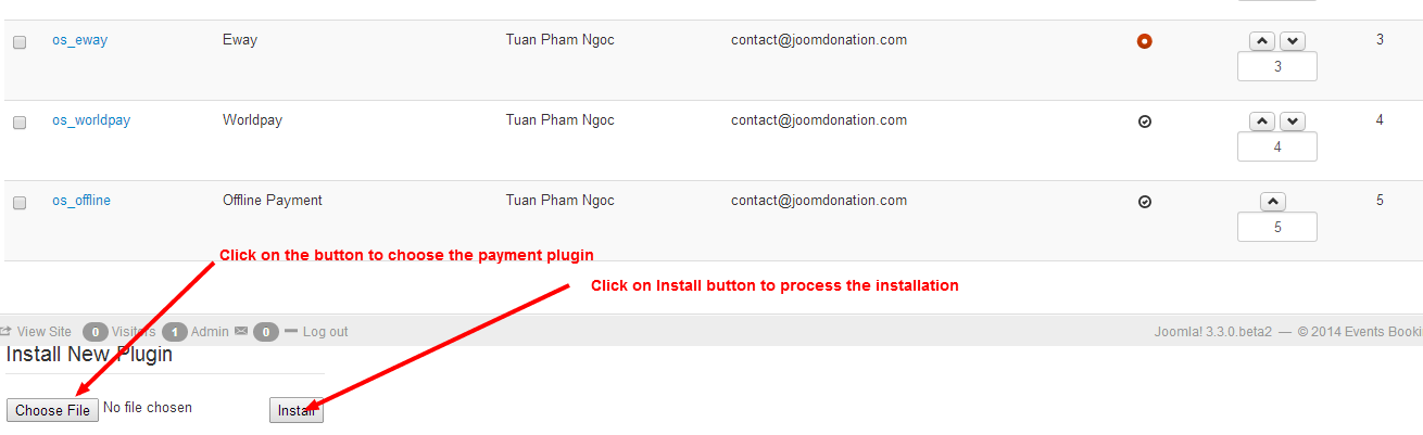 Install Payment Plugin